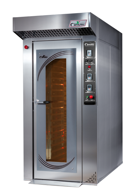 Thermoventilated rotary ovens
